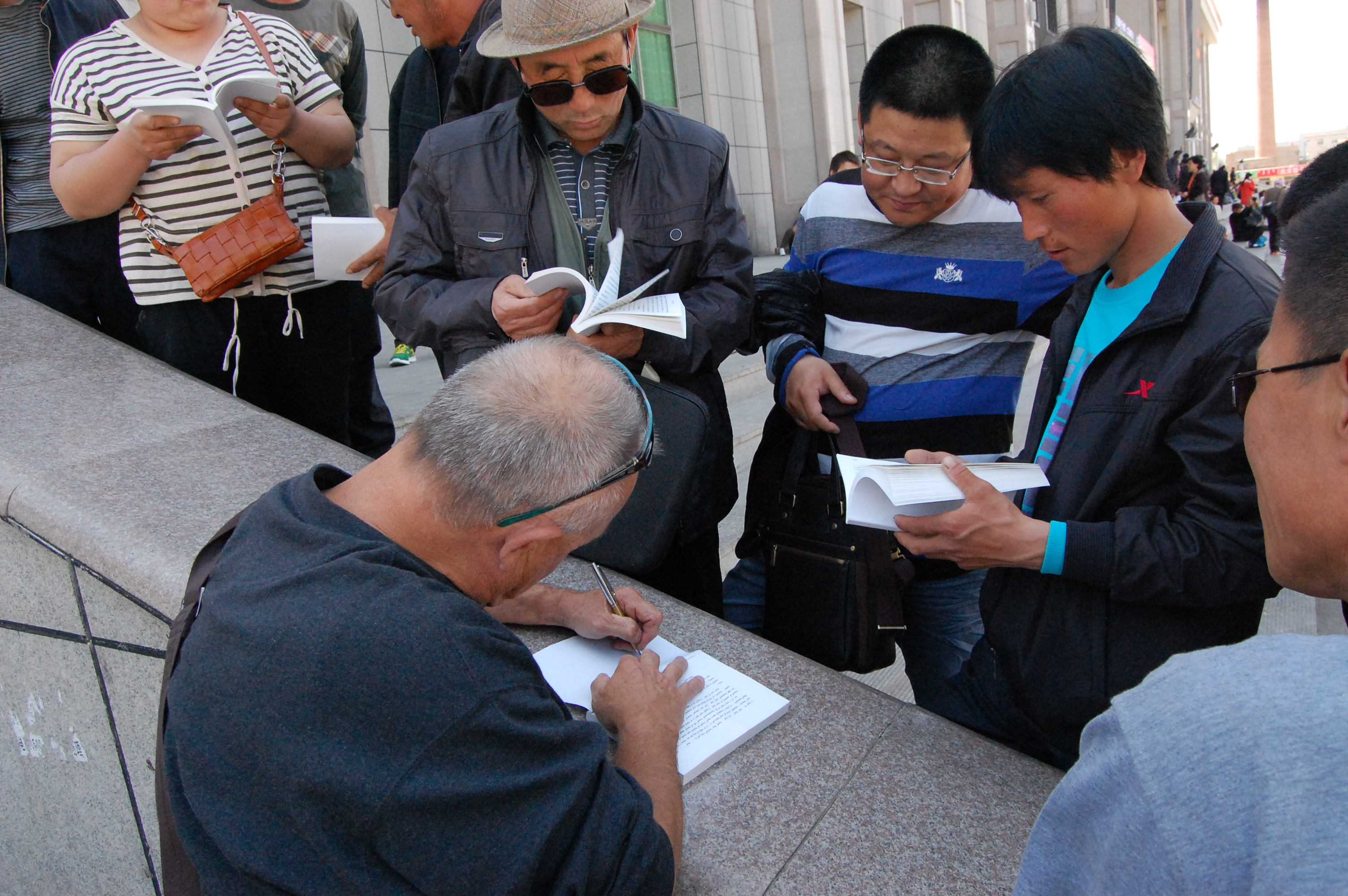 Tongliao China  city photo : Signing Bibles in TongLiao China Mongolia